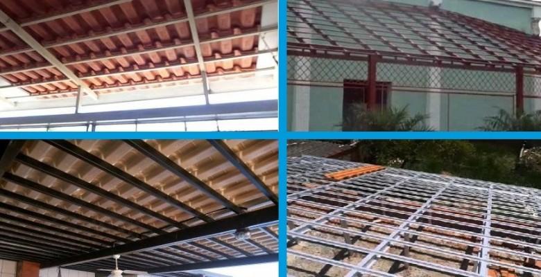 Estrutura metalica telhado residencial