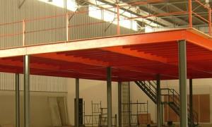 Estrutura metalica para mezanino